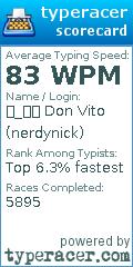 nerdynick typeracer WPM speed